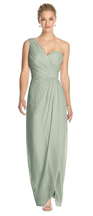 One-Shoulder Draped Maxi Dress with Front Slit - Aeryn