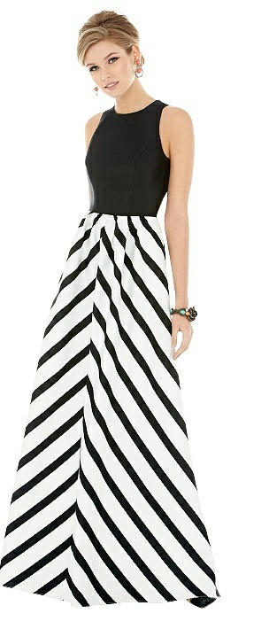 Sleeveless Striped Skirt Maxi Dress with Pockets