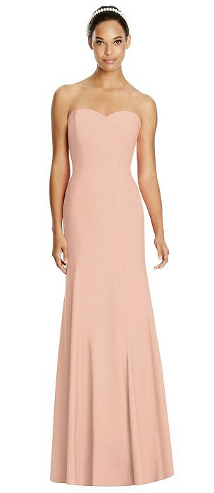 Sweetheart Strapless Flared Skirt Maxi Dress