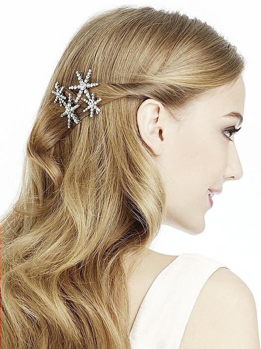 Rhinestone Star Hair Pins