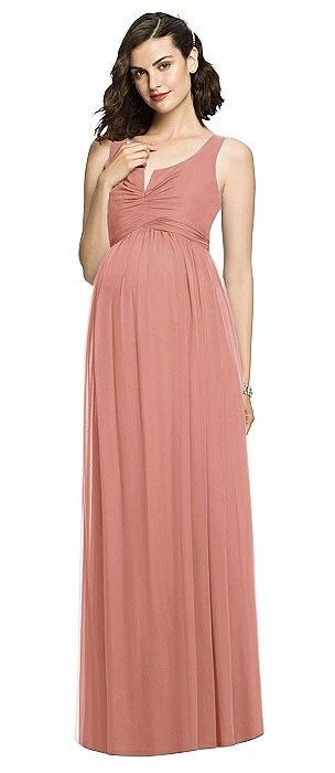 Sleeveless Notch Maternity Dress On Sale