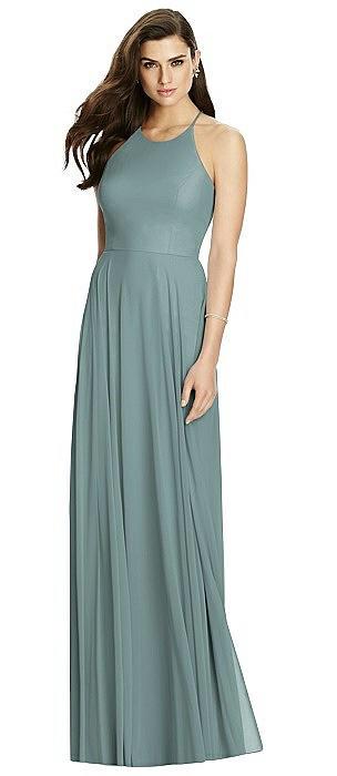 Criss Cross Backless Halter Maxi Dress