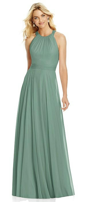 Cross Strap Open-Back Halter Maxi Dress On Sale