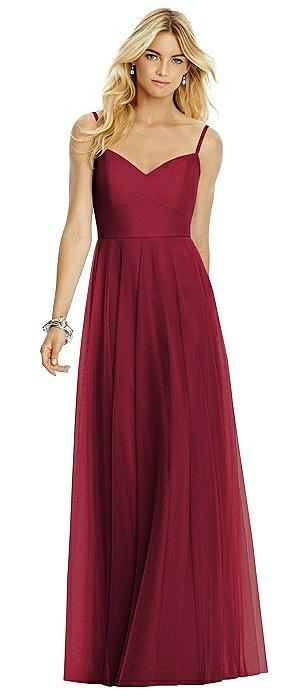 Sweetheart Spaghetti Strap Tulle Dress
