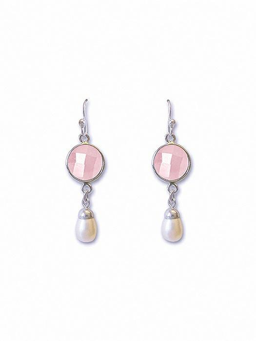 Pearly Rose Chandelier Earrings