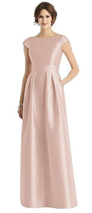 Cap Sleeve Pleated Skirt Dress with Pockets
