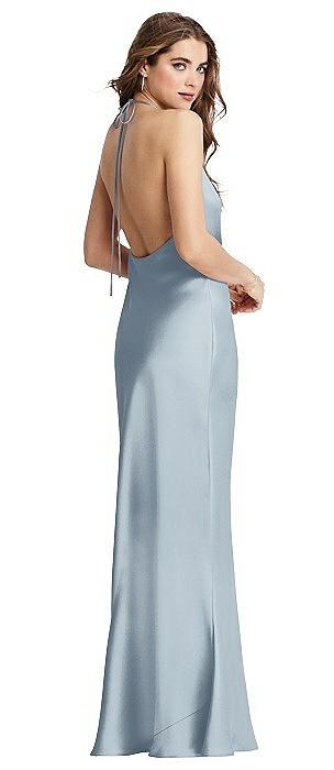 Cowl-Neck Convertible Maxi Slip Dress - Reese