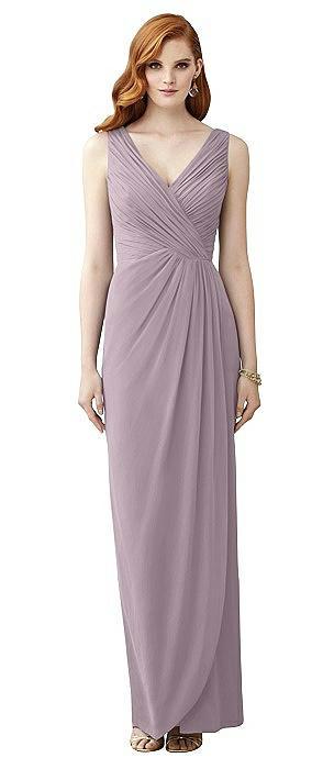 Sleeveless Draped Faux Wrap Maxi Dress - Dahlia