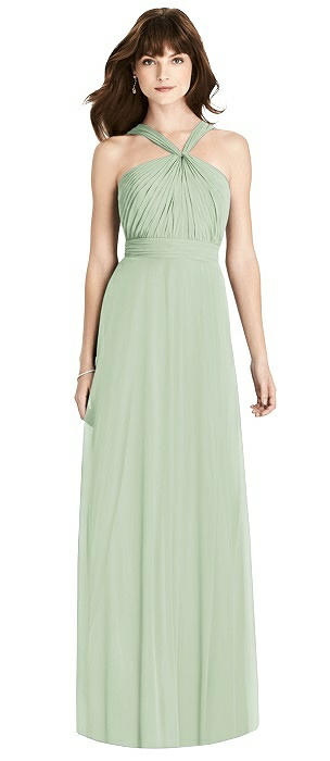 Twist Halter Chiffon Maxi Dress - James