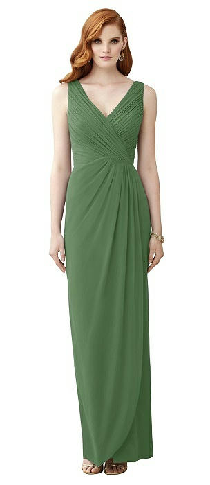 Sleeveless Draped Faux Wrap Maxi Dress - Dahlia
