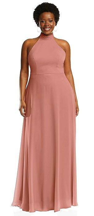 High Neck Halter Backless Maxi Dress