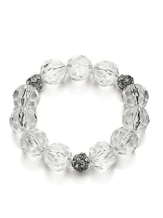 Faceted Clear Resin Bauble Bracelet