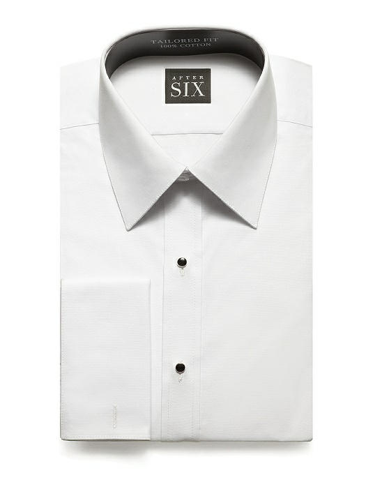 Plain Front Tuxedo Shirt - The Will by After Six