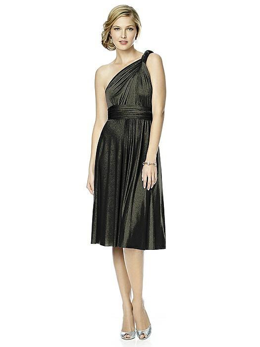 Shimmer Jersey Short Twist Dress