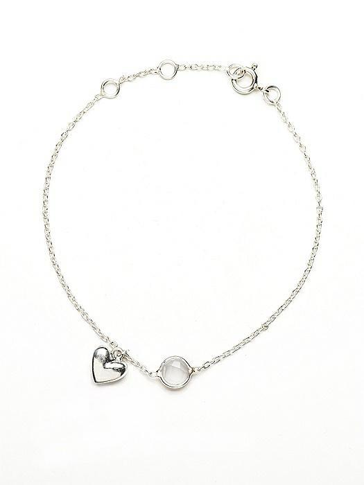 Sterling Heart Charm Bracelet