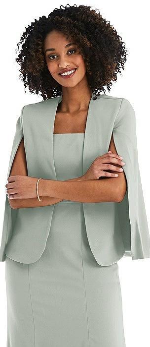Open-Front Split Sleeve Cape Jacket