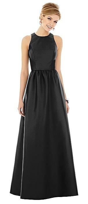 Sleeveless Keyhole Back Satin Maxi Dress On Sale