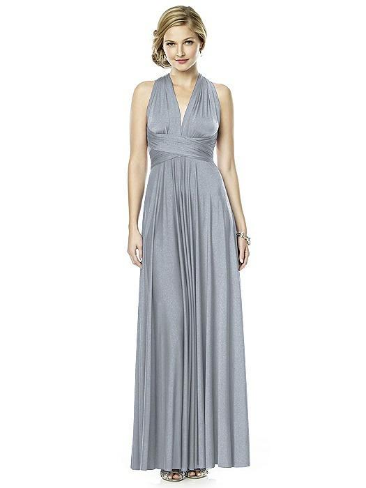 Shimmer Jersey Full Length Twist Dress