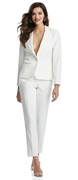 Women's Ivory Tuxedo Jacket