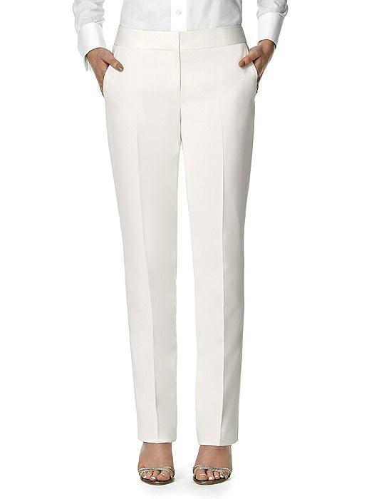 Women's Ivory Tuxedo Trouser