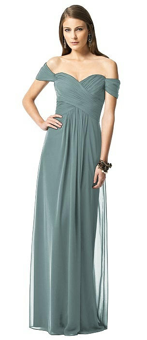Off-the-Shoulder Ruched Chiffon Maxi Dress - Alessia