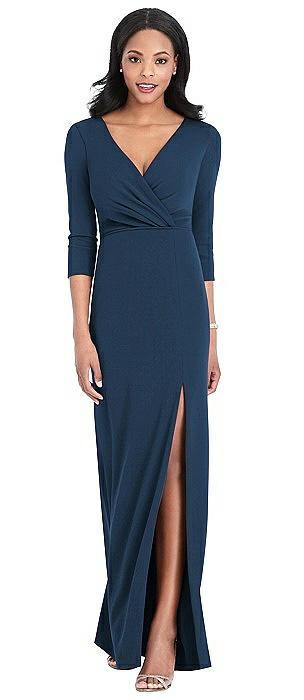 Lux Jersey Draped Sleeve Maxi - Yara