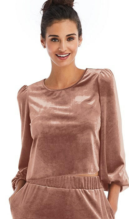 Velvet Pullover Puff Sleeve Top - Rue
