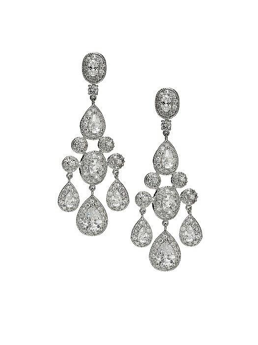 CZ Empire Chandelier Earrings