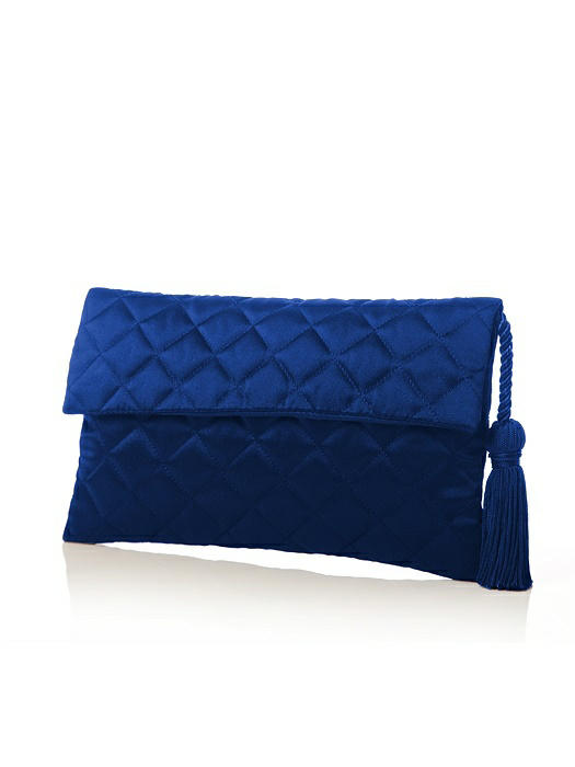 Quilted Envelope Clutch with Tassel Detail On Sale