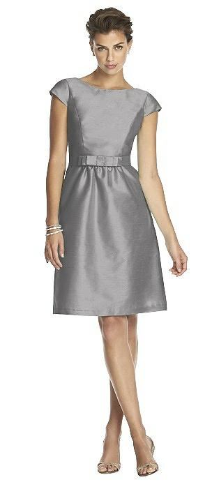 Alfred Sung Cap Sleeve Cocktail Dress D568 On Sale