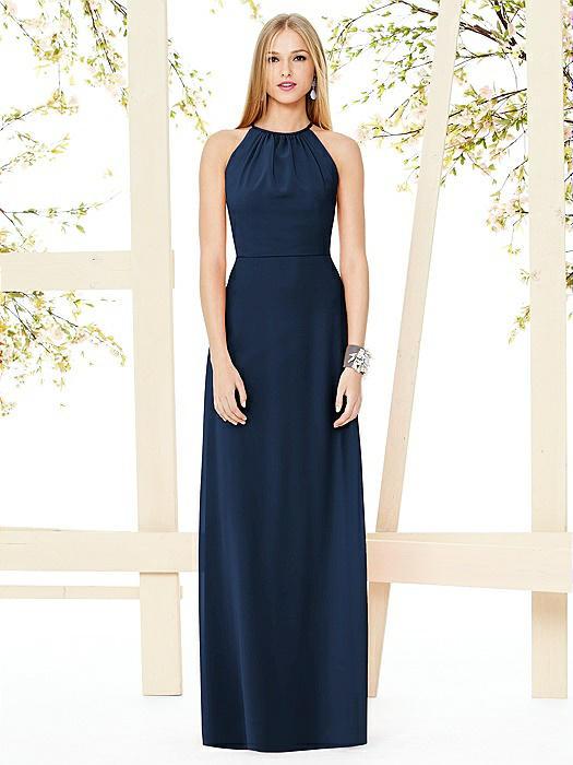 Open-Back Shirred Halter Dress On Sale