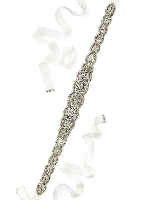 Tiffany- Scallop Edge Beaded Bridal Sash