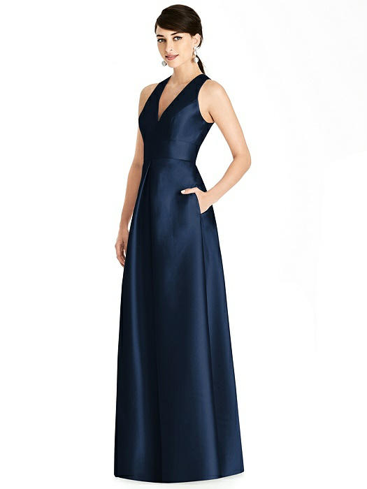 Sleeveless Open-Back Pleated Skirt Dress with Pockets On Sale