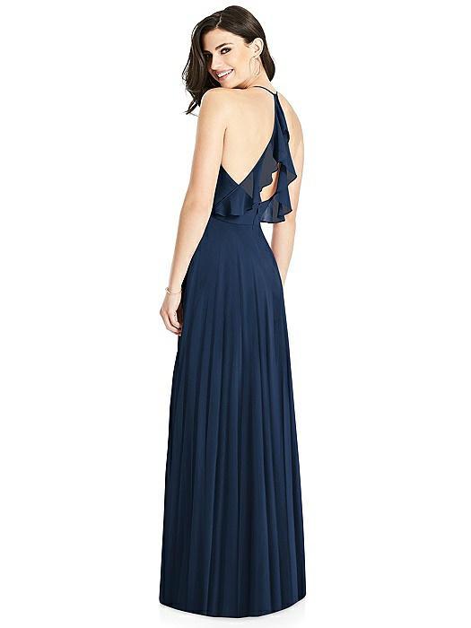 Ruffled Strap Cutout Wrap Maxi Dress On Sale