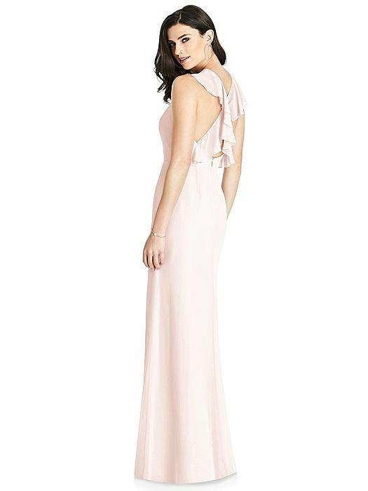 Criss Cross Ruffled Strap Halter Dress On Sale