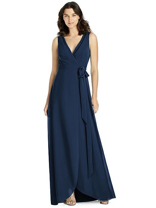 Sleeveless Tulip Skirt Wrap Maxi Dress with Sash On Sale