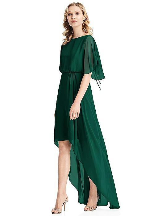 Flutter Sleeve High-Low Cocktail Dress On Sale