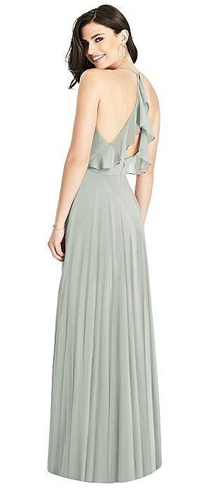 Ruffled Strap Cutout Wrap Maxi Dress