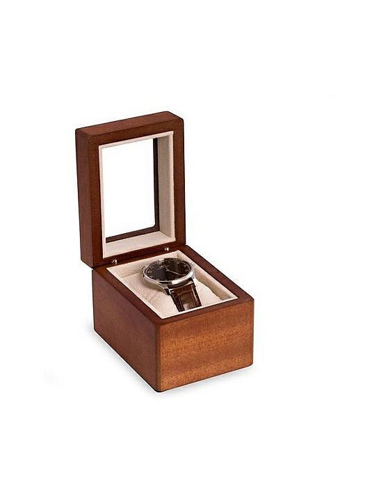 Cherry Wood Single Watch Box with Glass Top