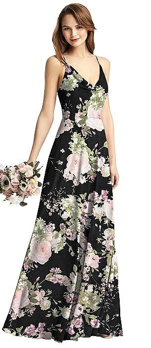 Cowl Neck Criss Cross Back Maxi Dress
