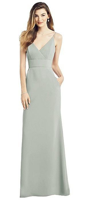 V-Back Spaghetti Strap Maxi Dress with Pockets
