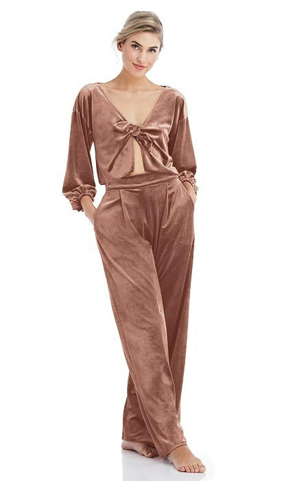 Velvet Lounge Pants with Pockets - Cleo