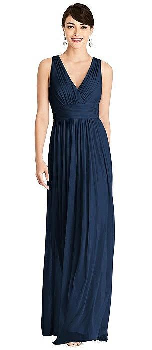 Shirred Wrap Bodice Twist Back Maxi Dress