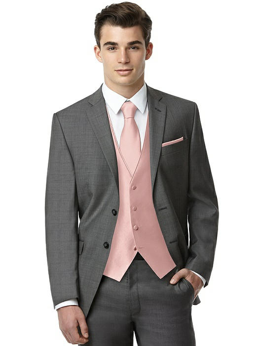 Classic Yarn-Dyed Tuxedo Vest by After Six