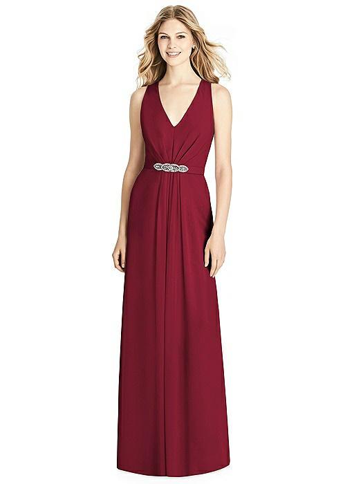 Sleeveless Jeweled Belt Twist Strap Dress On Sale