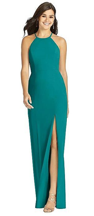 Sunburst Strap Back Mermaid Dress