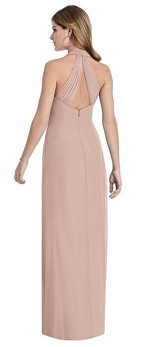 V-Neck Halter Chiffon Maxi Dress - Taryn