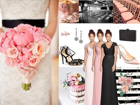 Black and Pink Wedding Inspiration